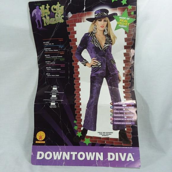 Downtown Diva Pimp Ho Purple Zebra Adult Costume w//Hat